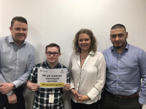 From our London office, Andy Constable, intern Alfie Scullion, Annalis Jovinsdottir, and Sulaiman Saadani press for progress by challenging stereotypes and bias on International Women's Day 2018.