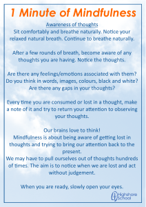 Awareness of Thoughts